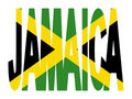 Jamaica text with flag Stock Image