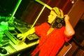 Jamaica theme DJ Royalty Free Stock Photography