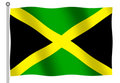 Jamaican Flag waving