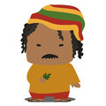 Jamaican mascot image of a cute cartoon Royalty Free Stock Photos