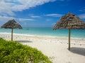 Jambiani beach at zanzibar tanzania view Royalty Free Stock Photography