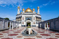 Jame asr hassanil bolkiah mosque in brunei bandar seri begawan Royalty Free Stock Photo