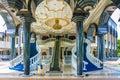 Jame asr hassanil bolkiah mosque entrance brunei detail view of colorful bandar seri begawan southeast asia Royalty Free Stock Photos