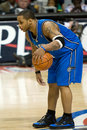 Jameer nelson of the orlando magic has ball during a game at palace auburn hills against detroit pistons Stock Images
