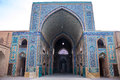 Jameh mosque in yazd iran Royalty Free Stock Image