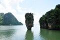 James Bond ö, Phang Nga fjärd, Phuket, Thailand Arkivbild