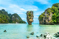 James Bond Island-Koh Tapoo from Phang Nga Bay,Thailand Royalty Free Stock Photo