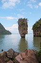James bond island in province phang nga thailand Royalty Free Stock Photos