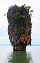 James bond island in thailand ko tapu Royalty Free Stock Photo