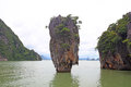 James bond island thailand phang nga bay Royalty Free Stock Photo