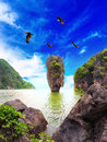 James bond island thailand travel destination phang nga bay archipelago Royalty Free Stock Image