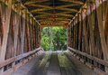 James Covered Bridge Interior Royalty Free Stock Photo