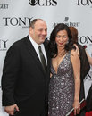 James gandolfini and deborah lin is joined by wife on the red carpet for the rd annual tony awards at radio city music hall in new Stock Photo