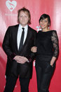 James McCartney; Jade Nazareth arrives at the 2012 MusiCares Gala honoring Paul McCartney Royalty Free Stock Images