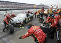 Jamie McMurray comes in for a pit stop Stock Images