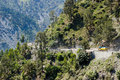 Jammu to srinagar border road india the roads running from the capital in the state of and kashmir dangerous mountainous roads Royalty Free Stock Images