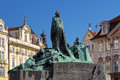 Jan Hus Memorial on the Old Town Square in Prague Royalty Free Stock Photo