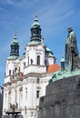 Jan Hus St. Nicholas Prague Old Town Royalty Free Stock Photo