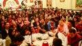 Janamashtami celebrations in Iskcon temple Royalty Free Stock Photo