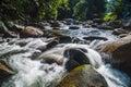 Janda baik downstream of waterfall flowing fast Stock Photo
