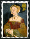 Jane Seymour UK Postage Stamp Royalty Free Stock Photo