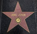 Janis joplin star on the walk of fame hollywood ca december tribute this is located hollywood blvd and is one celebrity Royalty Free Stock Image