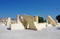 Jantar mantar astronomical observatory in japiur india ancient jaipur rajasthan Stock Image