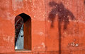 Jantar mantar window on a wall of the astronomical observatory in delhi india Stock Image