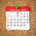 January calendar stock image d render Stock Image