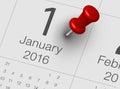 January 2016 Royalty Free Stock Photo