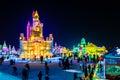 January 2015 - Harbin, China - International Ice and Snow Festival Royalty Free Stock Photo