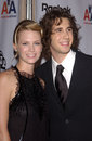 January Jones,Josh Groban Royalty Free Stock Photo