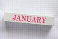 January Royalty Free Stock Photo