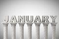January month sign on a classic columns greek style Stock Photo
