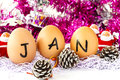 January mount for new year calendar set Stock Photography