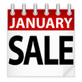 January Sale Icon Royalty Free Stock Image