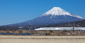 Japan bullet train shinkansen Royalty Free Stock Photo