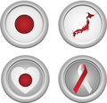 Japan Buttons Royalty Free Stock Image