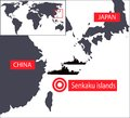 Japan and China map Stock Photo