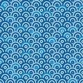 Japan cicle half circle line symmetry seamless pattern