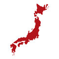 Japan country map Royalty Free Stock Photo