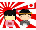 Japan Culture and Flag Stock Image