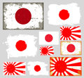 Japan flag collection vector Royalty Free Stock Photo