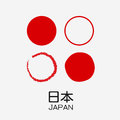 Japan flag four theme illustration vector Stock Photo