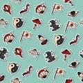 Japan Flat Icons Pattern Royalty Free Stock Photo