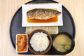 Japan food set fish and rice Royalty Free Stock Photos