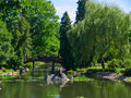 Japan garden, Wroclaw, Poland Royalty Free Stock Images