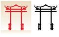 Japan gate Royalty Free Stock Photo