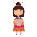 Japan girl character Royalty Free Stock Photo
