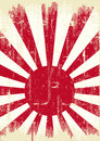 Japan grunge flag Stock Image